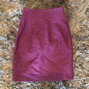 Vintage 80s Wool Pencil Skirt